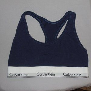 Calvin Klein navy blue racerback size MEDIUM
